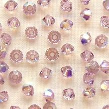 3mm Swarovski 5328 Xilion Light Amethyst AB - 10